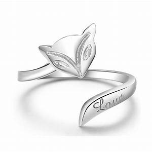 free shipping fashion style wedding rings for women fox With adjustable gold wedding rings