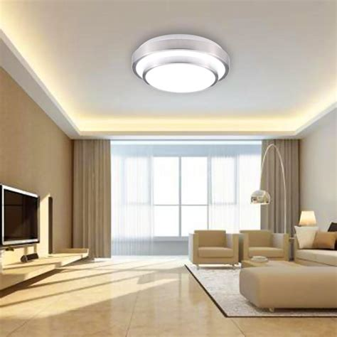 15w 30led flush mount ceiling light modern l 1200lm
