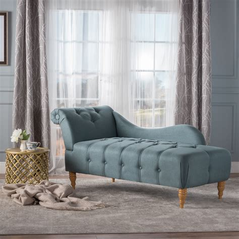 noble house mayor plush tufted traditional chaise lounge