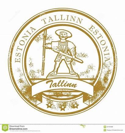 Estonia Stamp Tallinn Royalty Illustration Barbados Caribbean