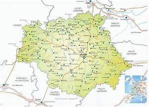 Carte Du Gers Détaillée : infos sur carte du gers detaillee vacances arts guides voyages ~ Maxctalentgroup.com Avis de Voitures