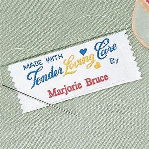 tender loving care personalized sewing label colorful images With embroidery labels sewing