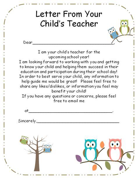 letter  teacher  parents editable teaching