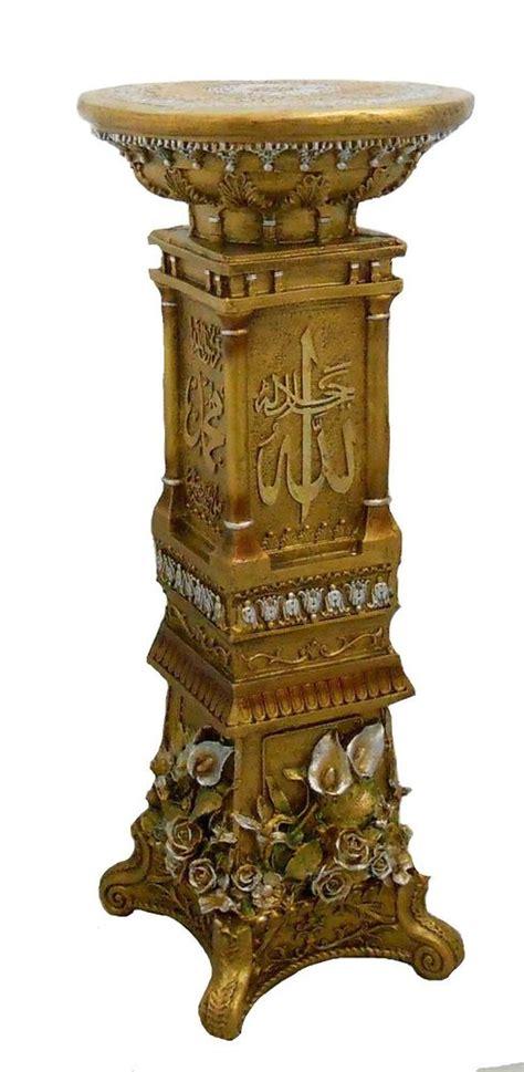 wooden l post vintage wood and resin column pedestal post plant statue 1175