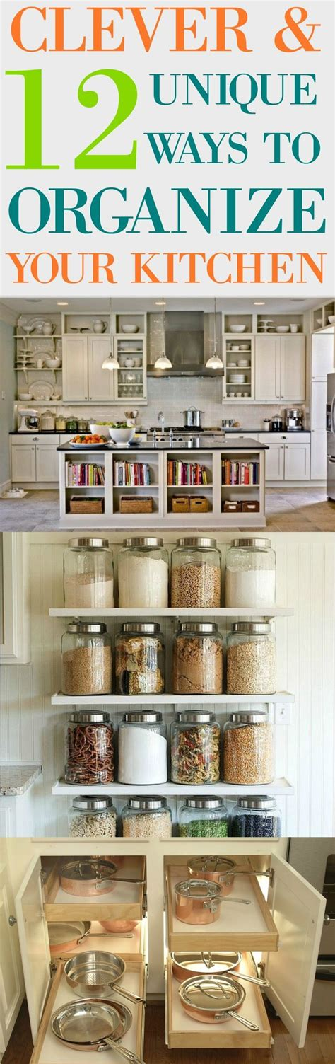 ways to organize kitchen 12 clever unique ways to organize your kitchen 7023