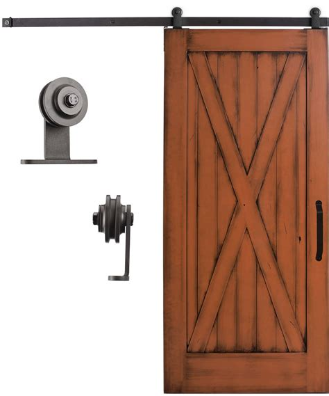 sliding cabinet barn door hardware sliding cabinet barn door hardware kit 6 6 feet steel