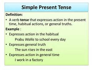 Simple Present Tense Sentences Examples