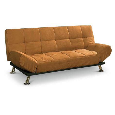 microfiber futon sofa polaris 174 microfiber futon sofa bed 168831 living room at sportsman s guide