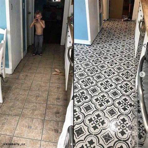 tile stencil designs stencil   tile floor