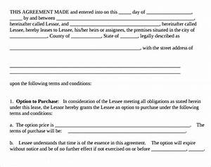 8 Lease Purchase Agreement Template to Download | Sample ...