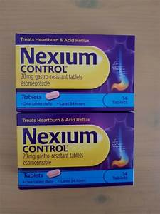 Nexium Control 20mg 14 Tablets For Sale Online