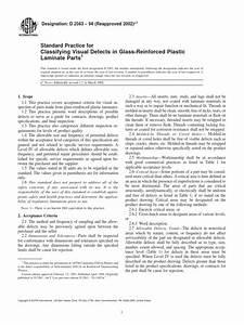 Astm D2563 94 Lamination Engineering Tolerance
