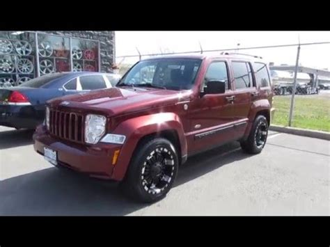 silver jeep liberty with black rims 2008 jeep liberty on custom 18 inch black offroad rims