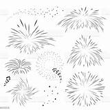 Fireworks Outline Explosion Templates Holiday Abstract sketch template