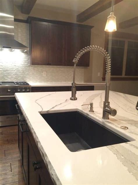 cambria britannica counter top cm chiseled edge  black granite undermount sink