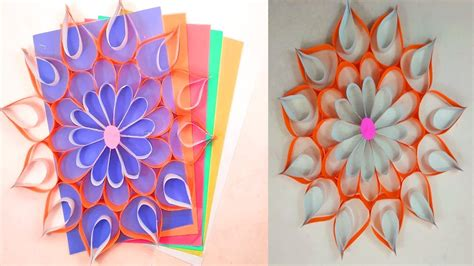Want to decorate your home walls with beautiful wall hangings? Diy Paper Flower Wall Hanging - How to Make Beautiful Wall ...
