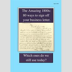 The Amazing 1800s 80 Ways To Sign Off Your Business Letter