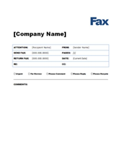 fax cover sheet template  word ledger review