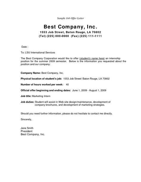 employment offer letter template offer letter template business letter template