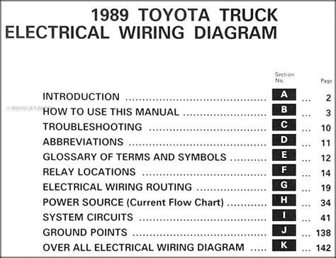 1980 Toyotum Truck Wiring Diagram by 1989 Toyota Truck Wiring Diagram Manual Original