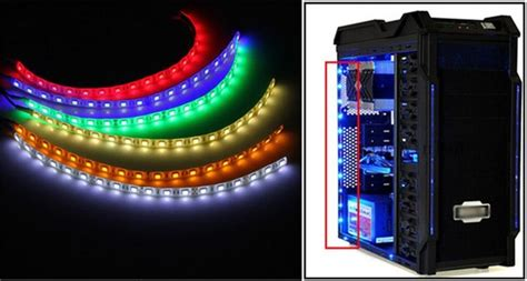 big promotion 60cm 18 led 5050 smd pc computer