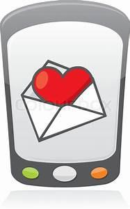 Illustration Of Cartoon Heart Inside An Envelope On A