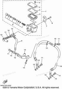 Yamaha Motorcycle 2002 Oem Parts Diagram For Front Master Cylinder
