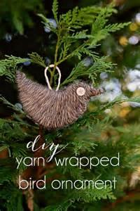 yarn wrapped bird ornament diy tutorial halstead