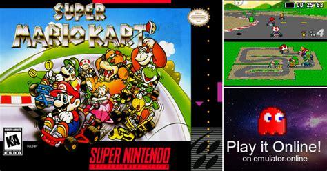 Play Super Mario Kart On Super Nintendo