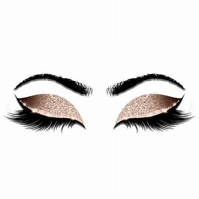 Eyelash Transparent Makeup Lash Salon Glitter Flyer