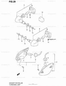 Suzuki Motorcycle 2002 Oem Parts Diagram For Turnsignal