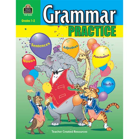 grammar practice for grades 1 2 tcr3620