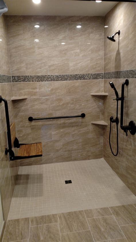 In The Shower - accessible showers aging in place remodeling