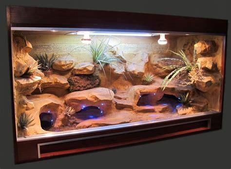 lighting for bearded dragon vivarium beardie viv idea love the led 39 s for night viewing