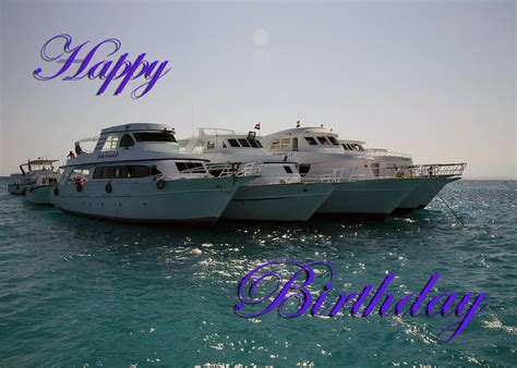 Happy Boat by Dive Boats Happy Birthday Photograph By Martin Matthews