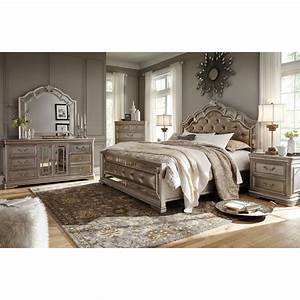 Signature design by ashley birlanny queen bedroom group for Bedroom furniture sets b q