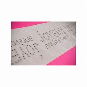 Chemin De Table Anniversaire : chemin de table joyeux anniversaire gris intiss 5 m ~ Melissatoandfro.com Idées de Décoration