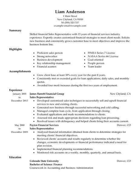 Effective Resume Sles by Best Sales Representative Resume Exle Livecareer