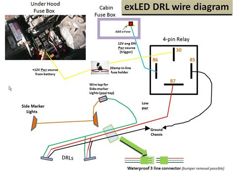Wiring Diagram For Pin Relay Drl With Turn Signal Wire