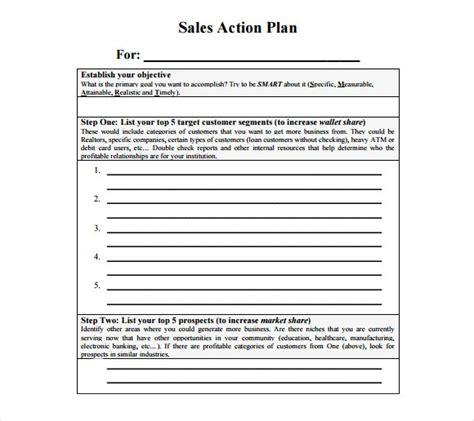 sales plan template free sales plan templates free printables word excel