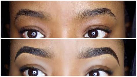 easy eyebrow tutorial   draw fill