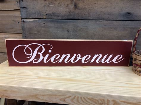 Bienvenue French Welcome Sign Country Sign Rustic Sign