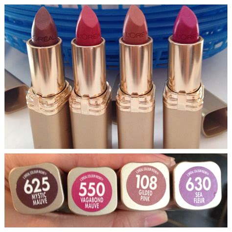 loreal lipsticks shade names shown picture makeup