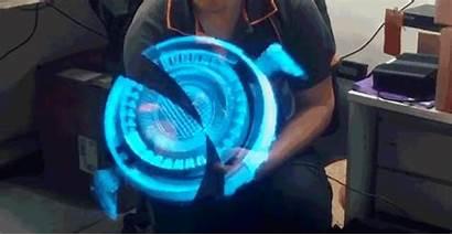 Hologram Stark Tony 3d Floating Looks Laboratory