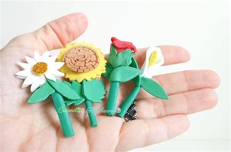 4 Flores de Goma eva en Miniatura Creando y Fofucheando