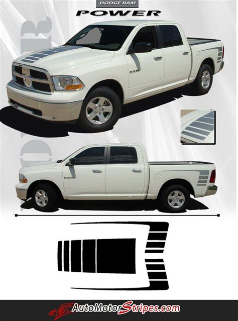 dodge ram power truck hood  rear side strobes