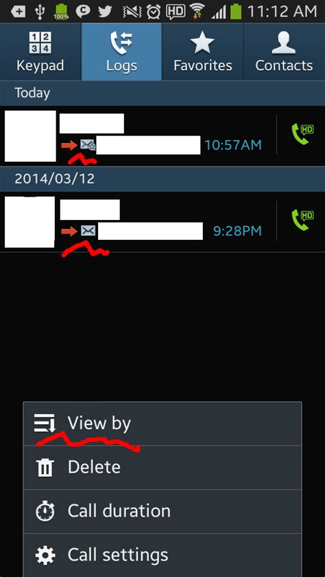 delete phone calls how to delete call log on android single all android how to read and delete messages log in call logs