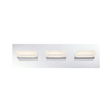 led lights in the kitchen eurofase collection 3 light chrome led bath bar 8960