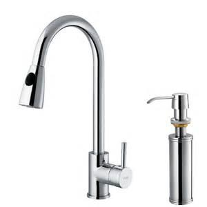Kitchen Faucet Sprayer Vigo Single Handle Pull Out Sprayer Kitchen Faucet With Soap Dispenser In Chrome Vg02005chk2
