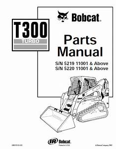 Bobcat T300 Turbo Track Loader Parts Manual Pdf Download